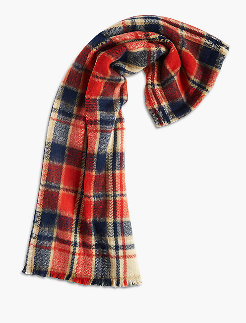 CHECKERED SCARF, MULTI