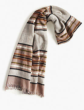 NEUTRAL STRIPE SCARF