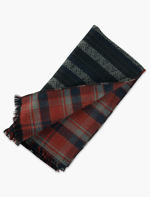 Lucky Stripe Plaid Duofold Scarf