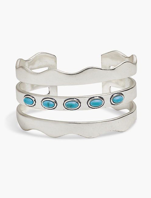 TURQUOISE WAVE CUFF,