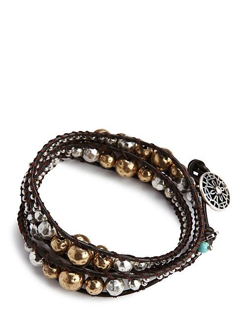 METAL WRAP BRACELET, TWO TONE