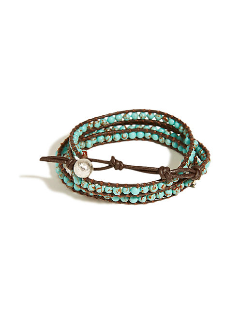 TURQUOISE WRAP BRACELET, MEDIUM LIGHT BLUE