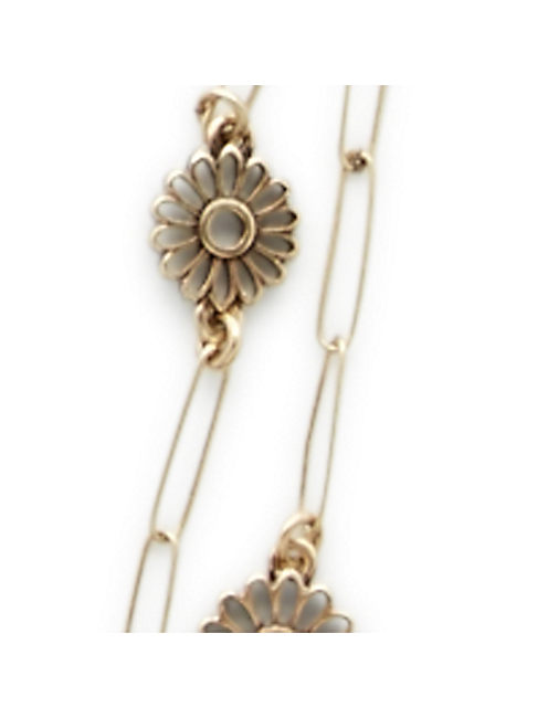 FLORAL DOUBLE NECKLACE, GOLD MULTI