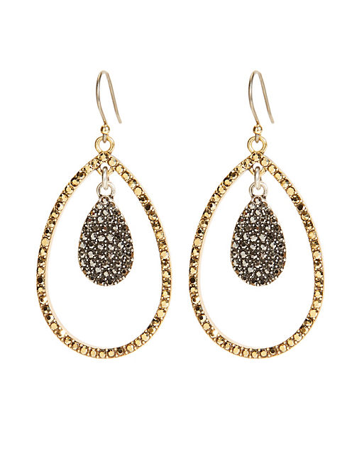 PAVE ORBITAL EARRING, MULTI