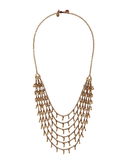 GOLD MULTI LAYER NECKLACE, 715 GOLD