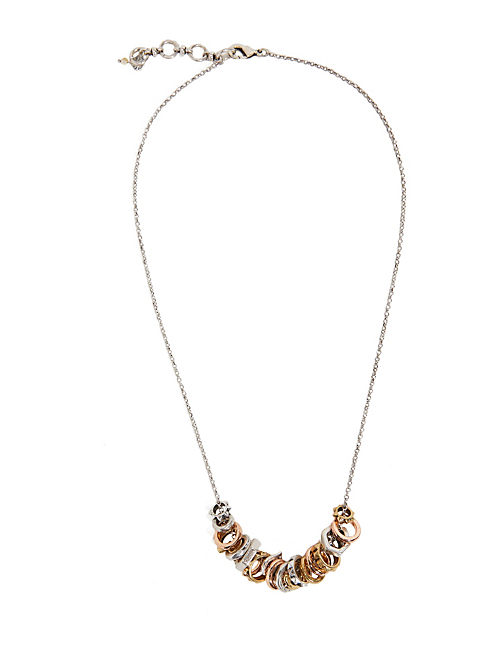 SPIKE RING NECKLACE, MULTI