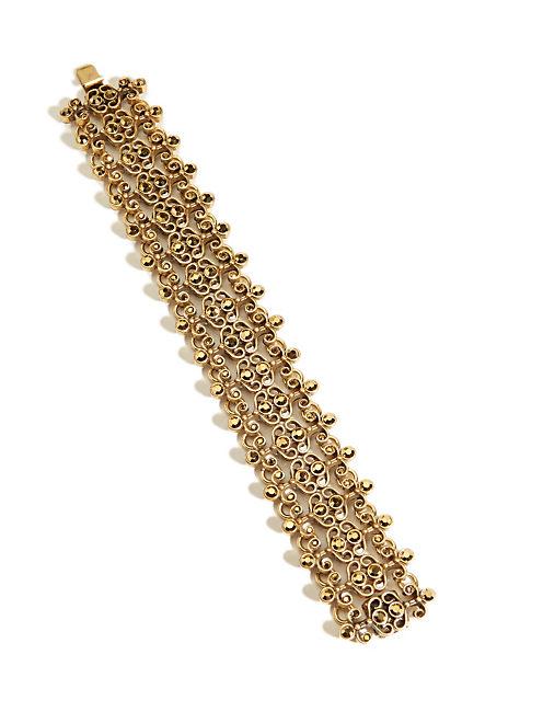 PAVE GOLD FLEX BRACELET, 715 GOLD