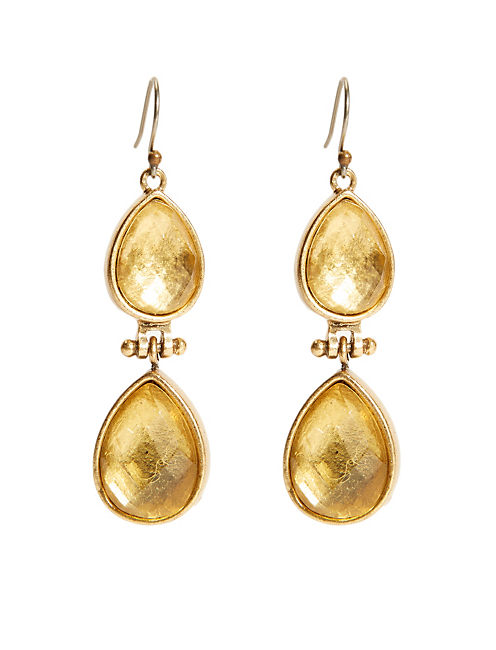 CITRINE DROP EARRING,