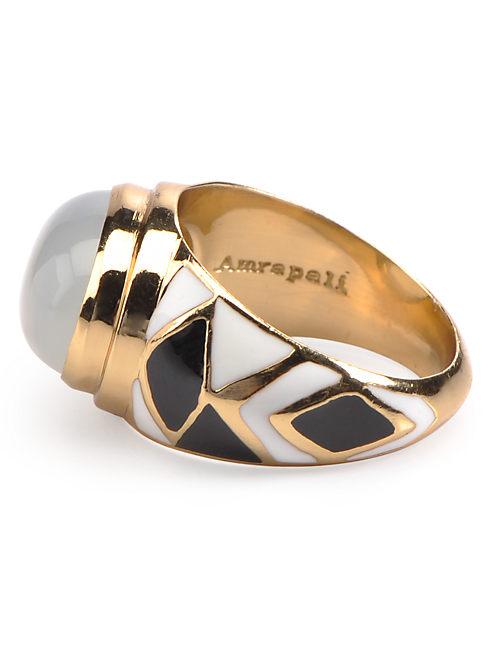 ENAMEL RING, 715 GOLD