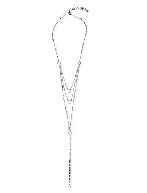 LAYERED NECKLACE, SILVER