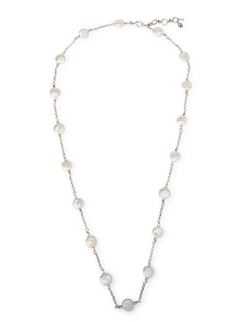 PEARL STRAND NECKLACE, SILVER