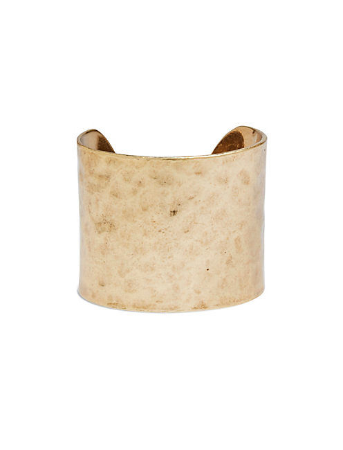 HAMMERED CUFF, 715 GOLD