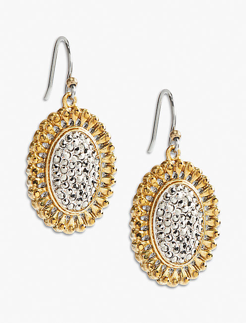PAVE DROP EARRING,