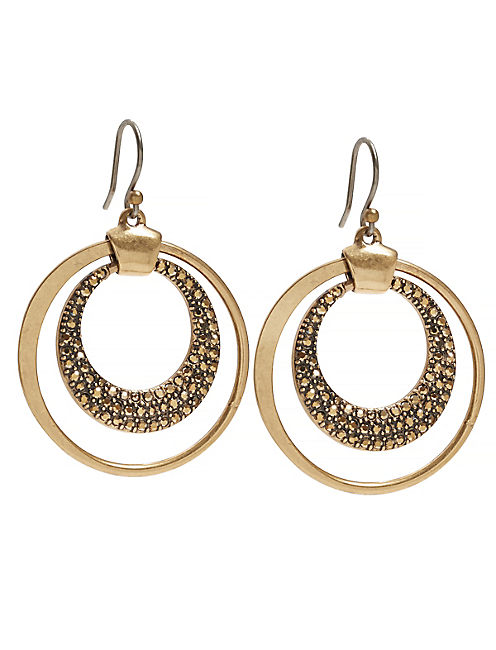 PAVE DOUBLE HOOP,