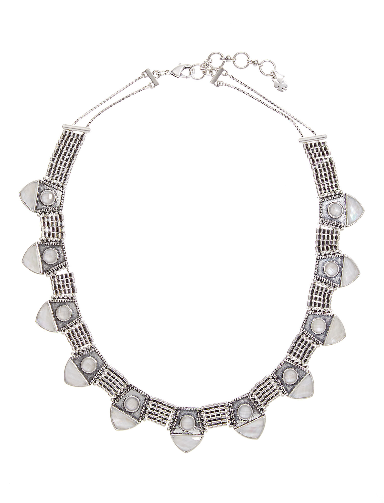 Lucky Brand Pearl Collar Necklace (Silver) Necklace oiXCGT