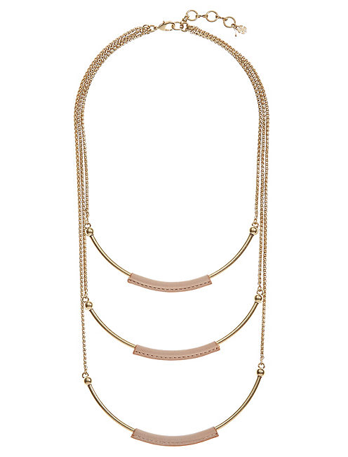 LEATHER LAYER NECKLACE,