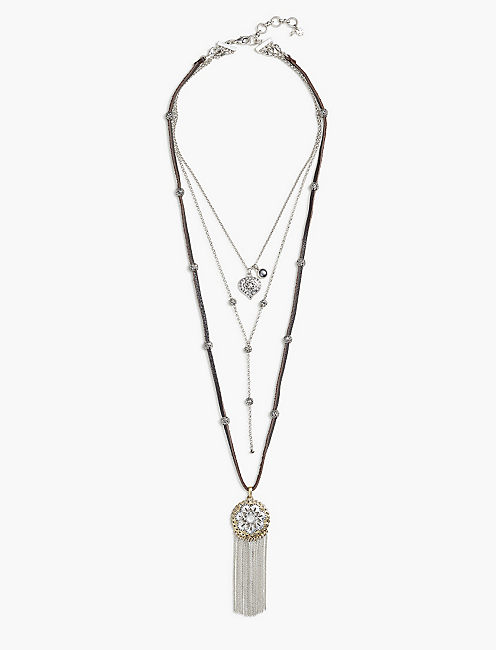 FLORAL LUCKY LAYER NECKLACE,