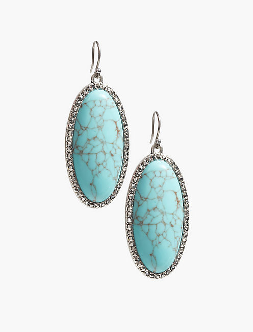 TURQUOISE STONE EARRING,