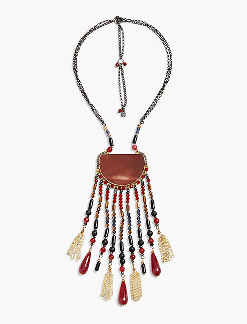RED STONE STATEMENT NECK,