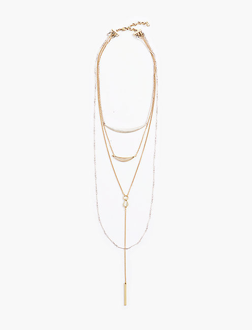 CAT EYE LAYER NECKLACE,