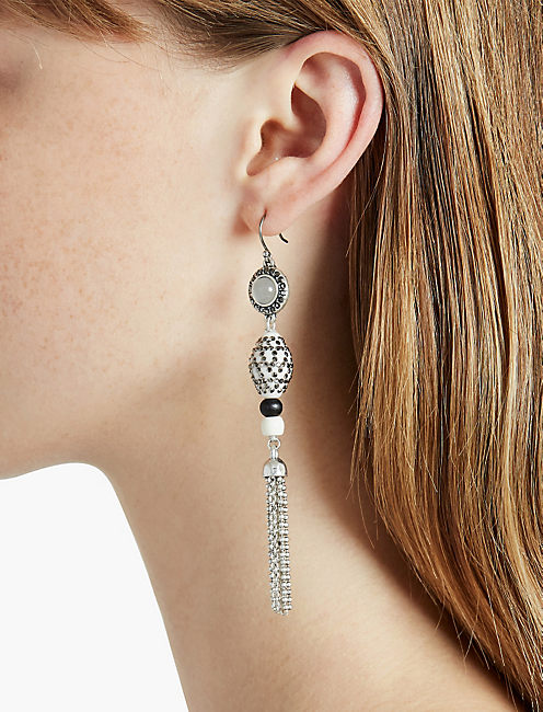 BONE LINEAR EARRING,