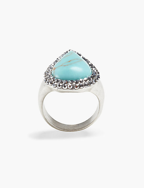 TURQUOISE PAVE RING,