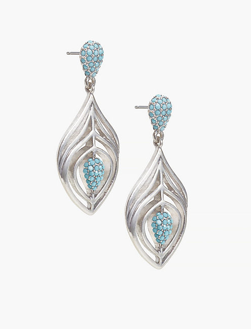 FEATHER STATEMENT EARRING,