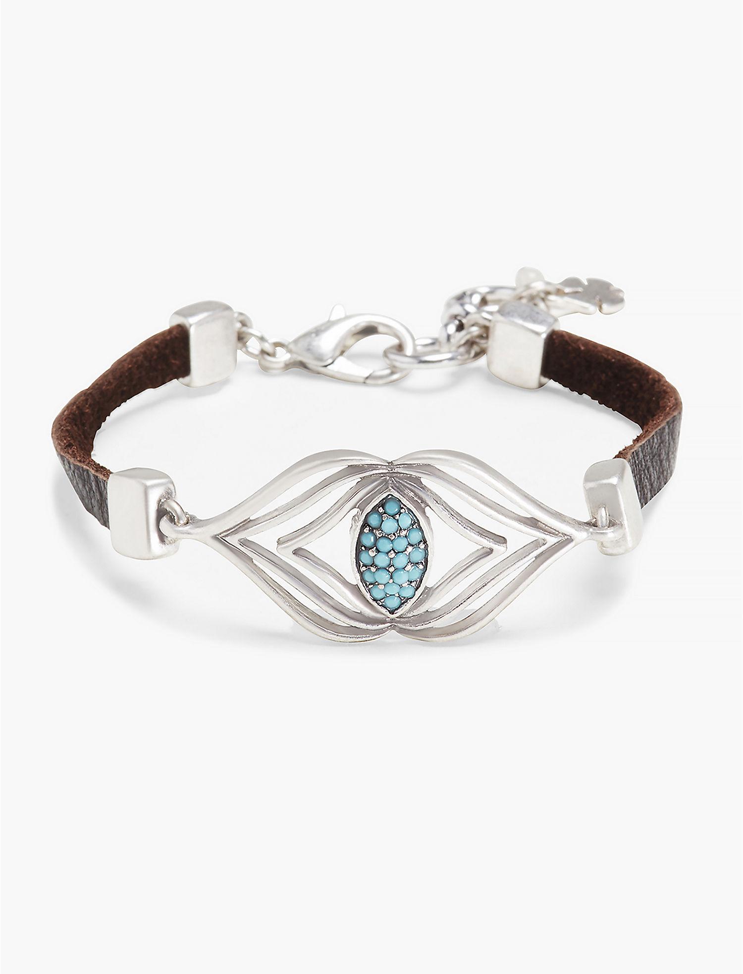 Lucky Brand Silver Leather Bracelet (Silver) Bracelet BeFGNI3i