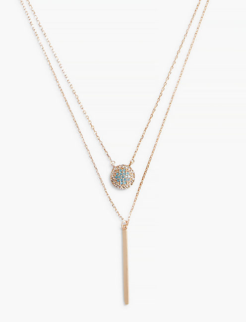 TURQUOISE DOUBLE LAYER NECKLACE,