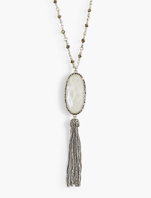 REVERSIBLE TASSEL NECKLACE,