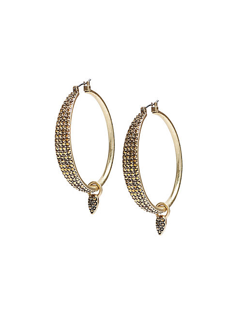 PAVE DANGLE HOOPS,