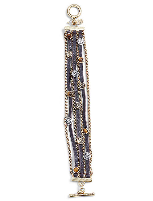 LEATHER BEADED BRACELET,
