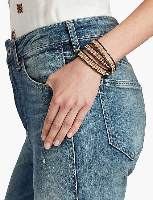 Double Bead Wrap Bracelet,