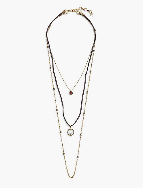 CIRCLE LUCKY LAYER NECKLACE,