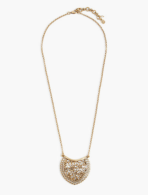 GOLD LACE PENDANT NECKLACE,