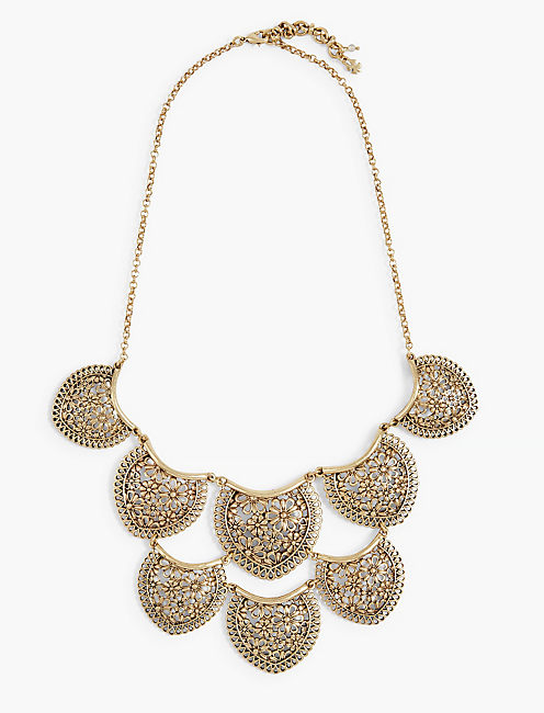 GOLD TIERED LACE COLLAR NECKLACE,