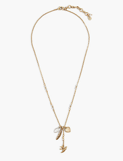BIRD CLUSTER CARDED NECKLACE,