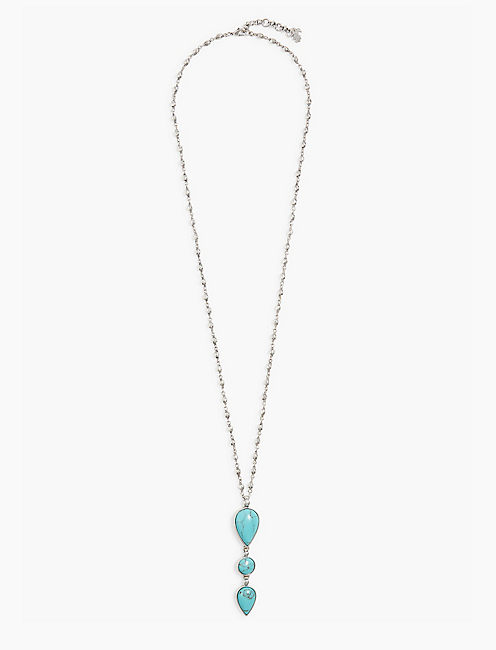 TURQUOISE STACK PENDANT NECKLACE,