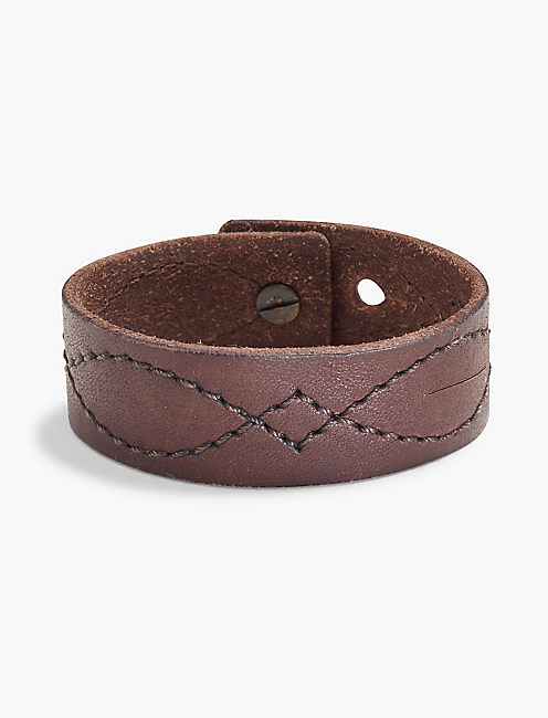EMBROIDERED LEATHER BRACELET,