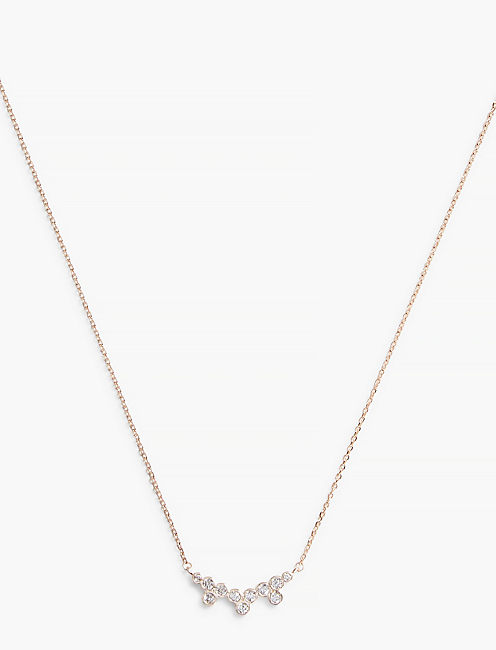 PAVE CLUSTER NECKLACE,
