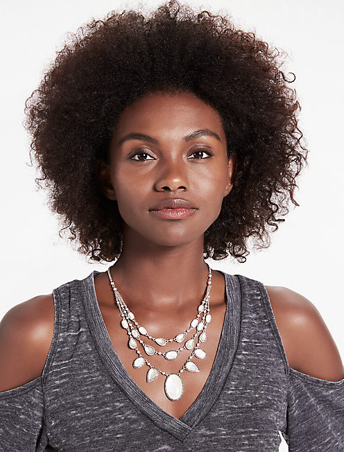 SET STONE COLLAR NECKLACE,