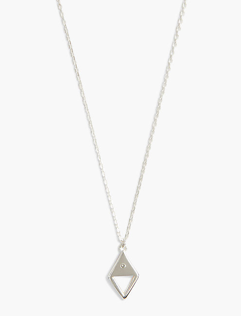 TRIANGLE SIMPLE NECKLACE, SILVER