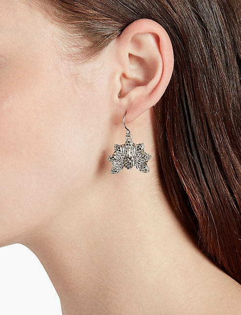 SMALL PEACOCK EARRINGS,