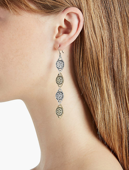 Lucky Two Tone Linear Earring