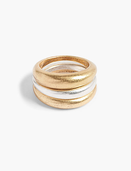 TWO TONE STACK RING,