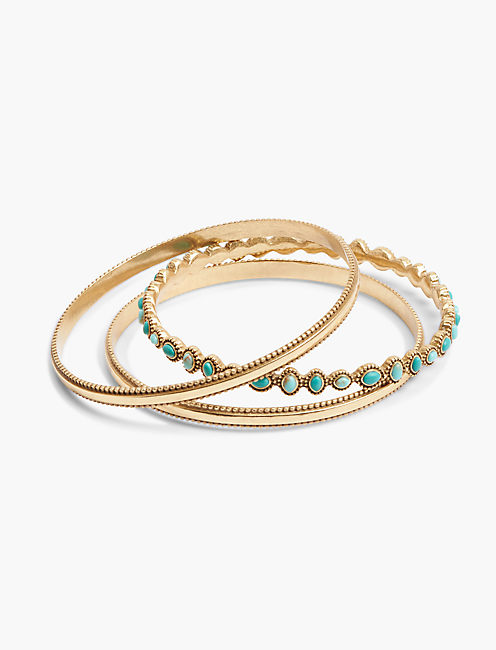 DOUBLE TURQUOISE BANGLES,