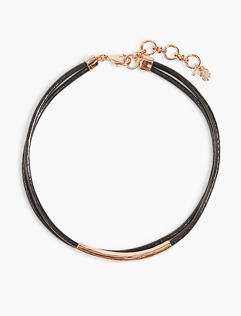 BLACK AND ROSE GOLD CHOKER,