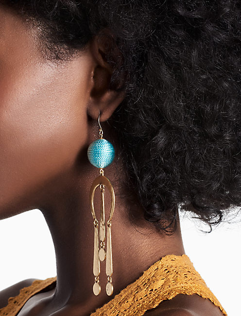 METAL BAUBLE EARRING,