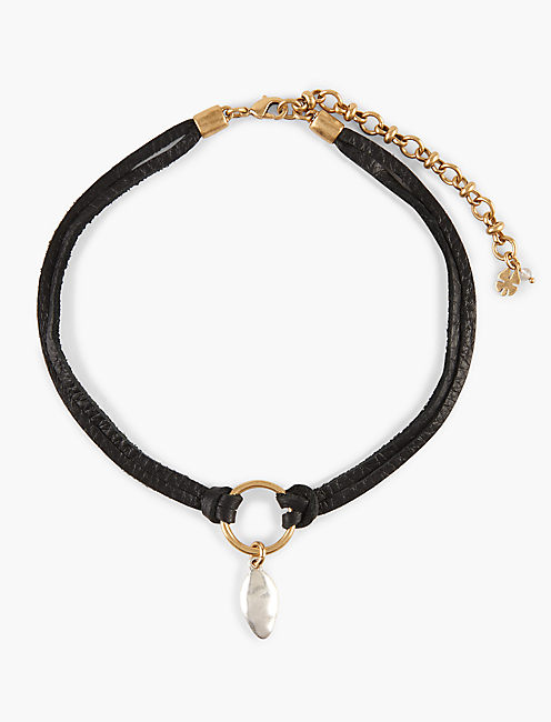 TWO TONE DROP CHOKER,