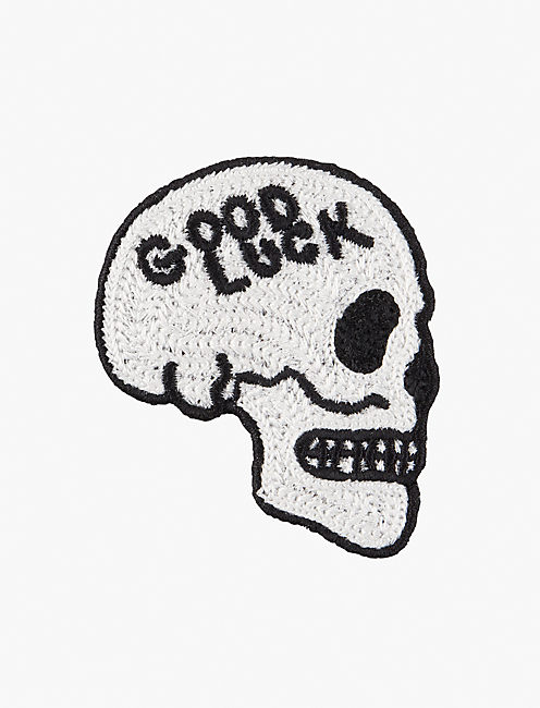 Lot, Stock And Barrel GOODLUCK SKULL PATCH,